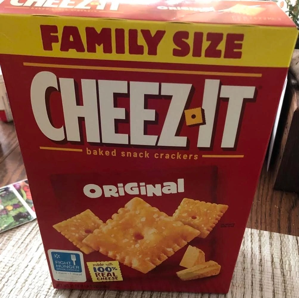 Box of Cheez-It crackers - pairs well with K-cup tea