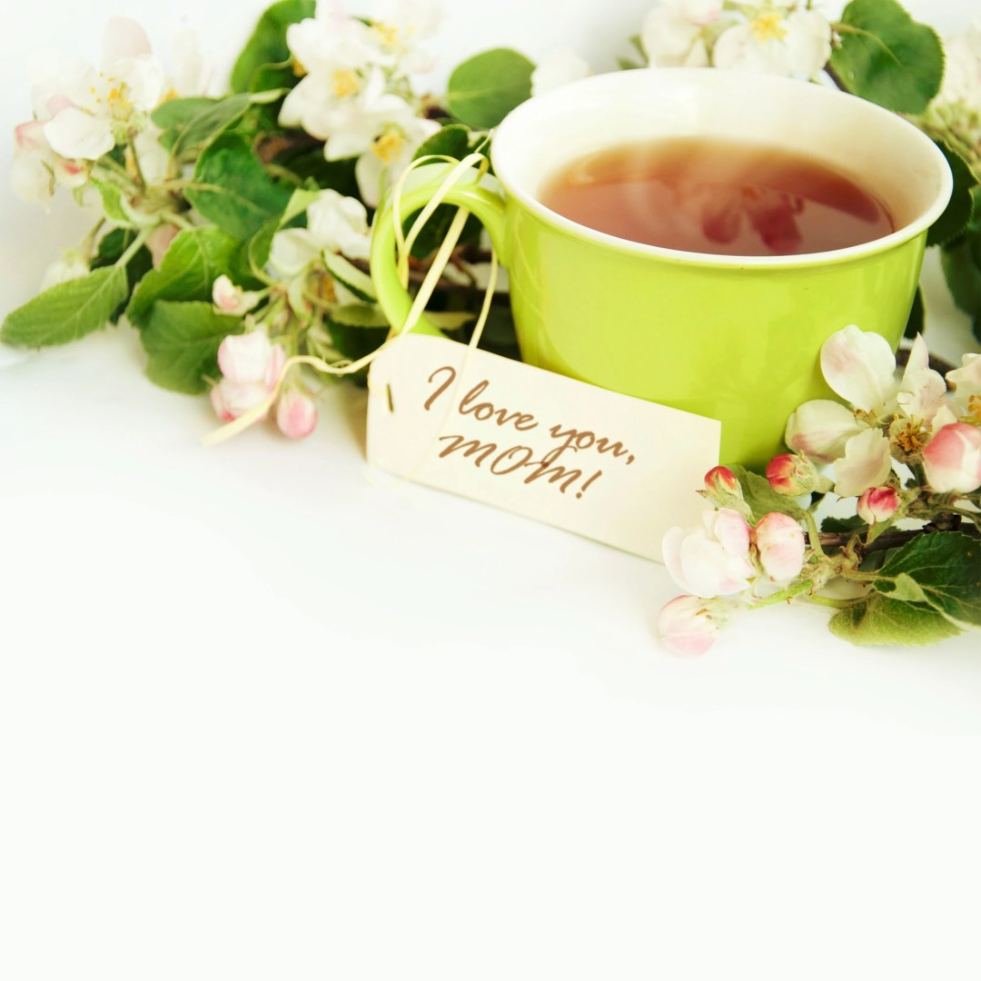 mother's day tea - teacup and flowers