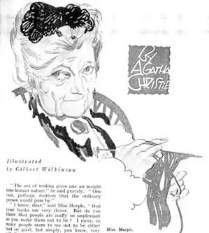 Miss Marple 1927 illustration by Gilbert Wilkinson