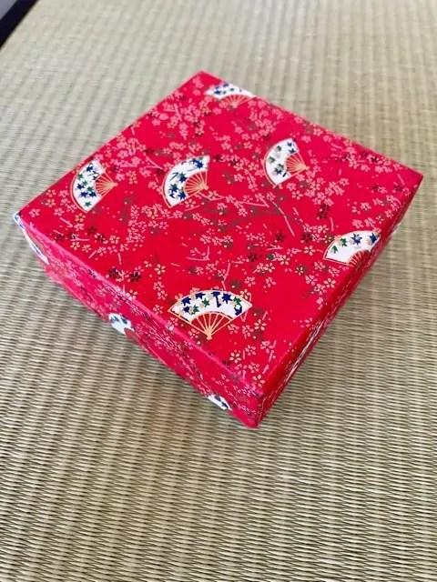 A decorative box of higashi