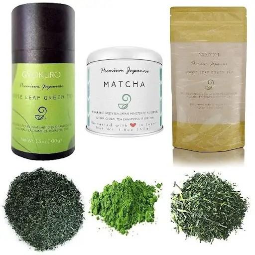 Japanese Green Tea Co Assortment Set - Matcha and loose-leaf