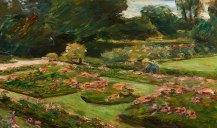 Max Liebermann. Flower Terrace in the Garden, Wannsee, 1915
