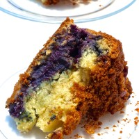 Blueberry Crumb cake with Pecan Streusel topping: To nurture cool and calmness