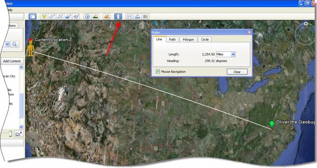 Ruler in Google Earth