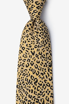 Cheetah Animal Print Tie