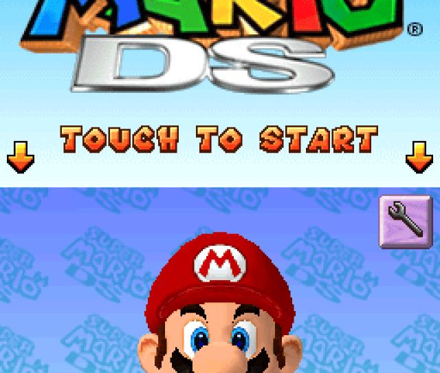 Title Screen Super Mario 64 Ds