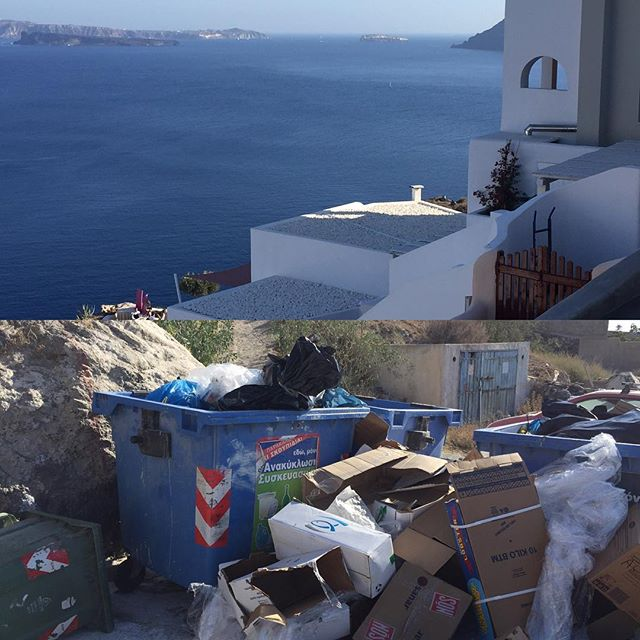 Santorini, the capitalism trash.