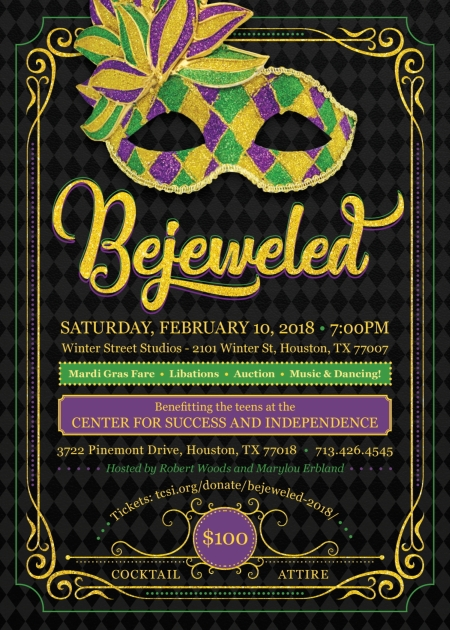 TCSI's annual gala, Bejeweled, is February 10 2018.