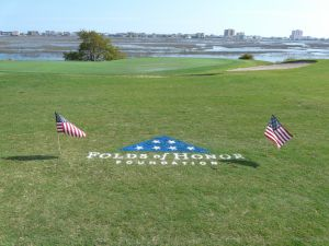 2013 Folds of Honor logo painted on #3 hole at Tidewater
