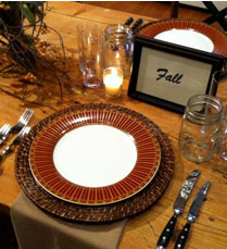 Table setting sidebar - Home
