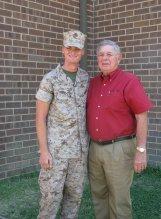 Julia's bother and Grandpa, Marine Corps