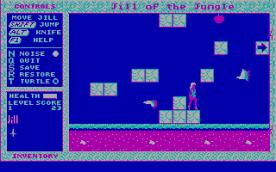 Jill of the Jungle CGA in-game