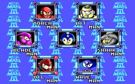 Mega Man III EGA select