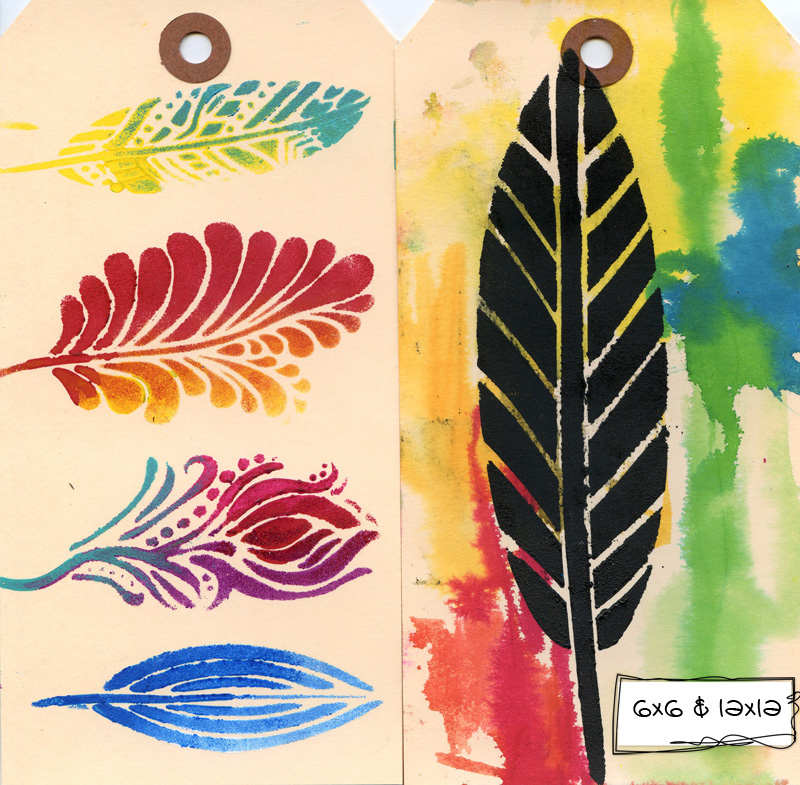 Ronda Palazzari Fancy Feathers Tags