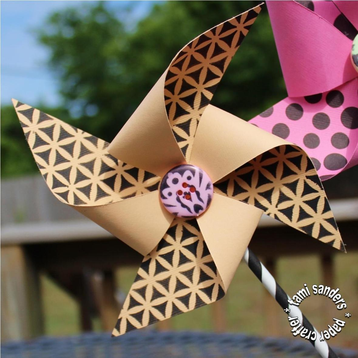 pinwheels -2- tcw,the crafter's workshop, kids party decor,kids party favors, birthday party,girls decor,making pinwheels,tami sanders - shwm