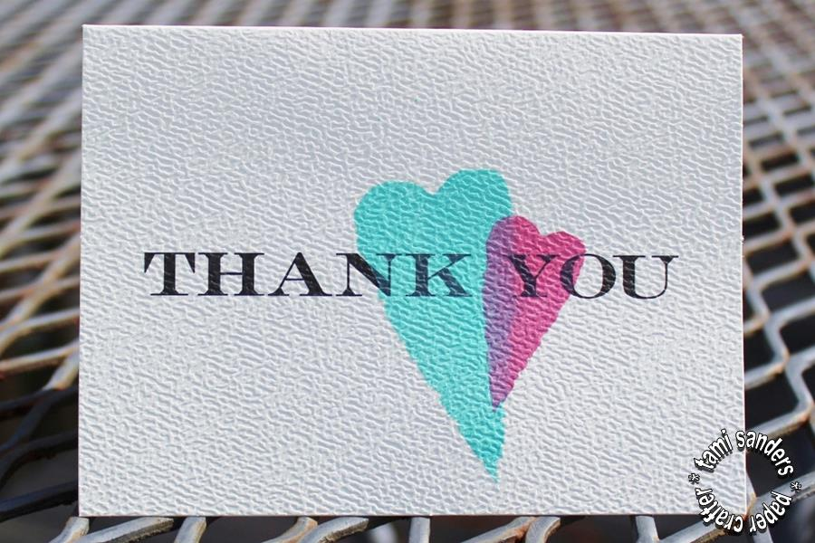 tcw -4- thank you cards,the crafter's workshop,inking stencils,stenciled cards,tami sanders - shwm