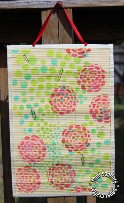 bamboo mat memo board - tcw,the crafter's workshop,stencils,inking stencils,room decor,home decor,teen decor, $1 project,inking stencils, tami sanders - wm 1