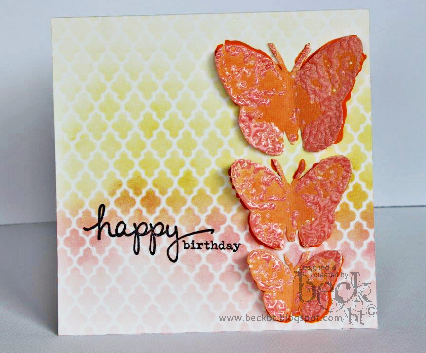 stencil ombre birthday card two tone beck beattie