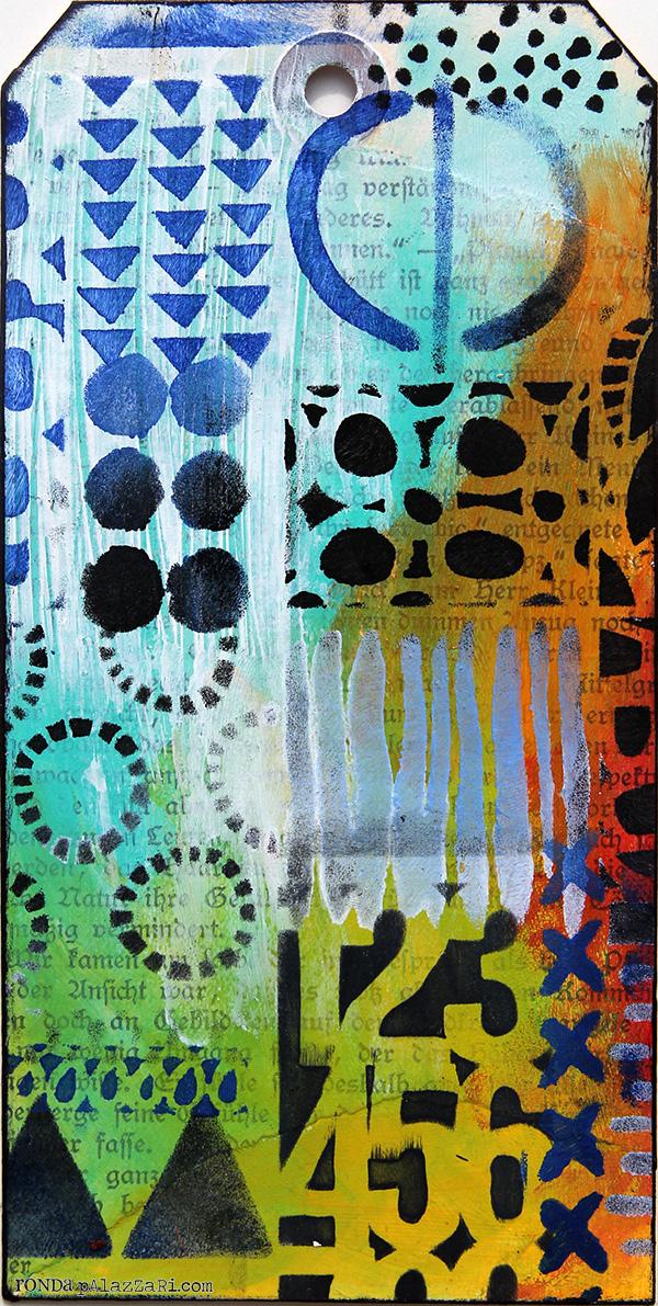 Ronda Palazzari Geometric Art Layers