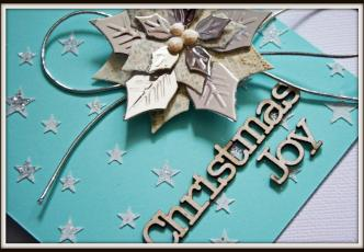 Christmas Joy card detail 2