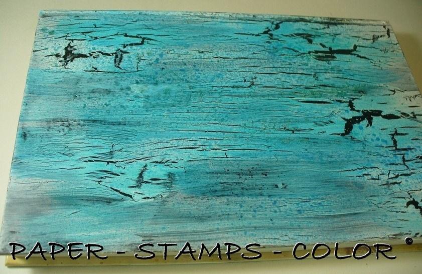 TCW boek blauwbruin crackle stencil vlinder (5)