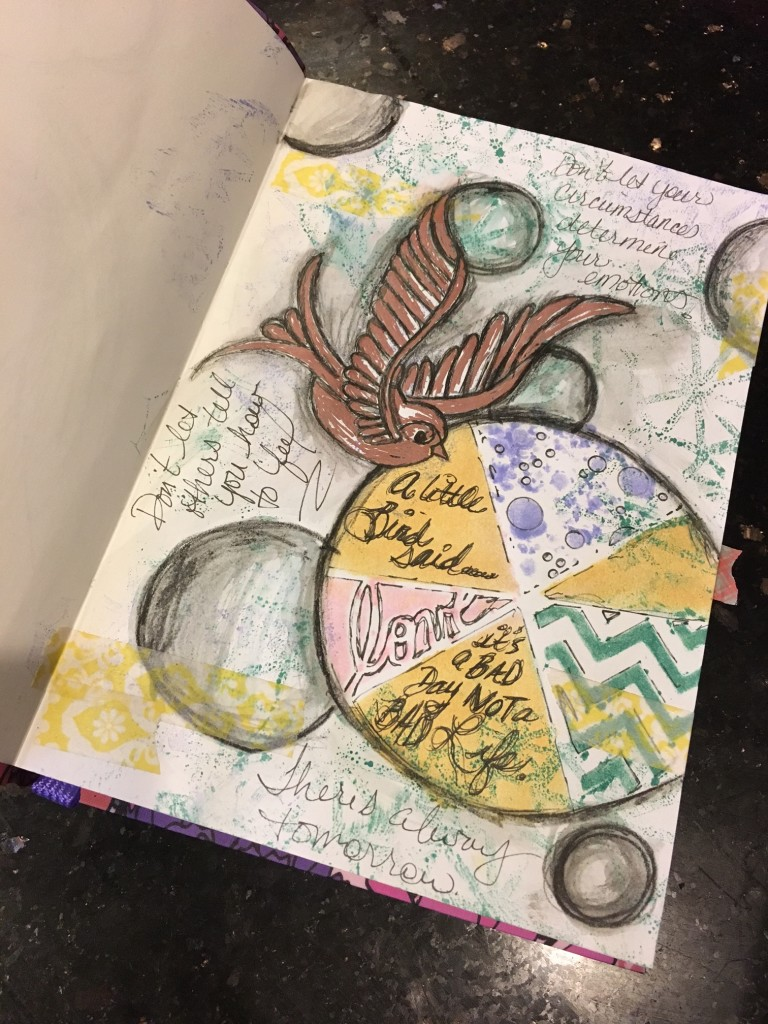 A little bird art journal