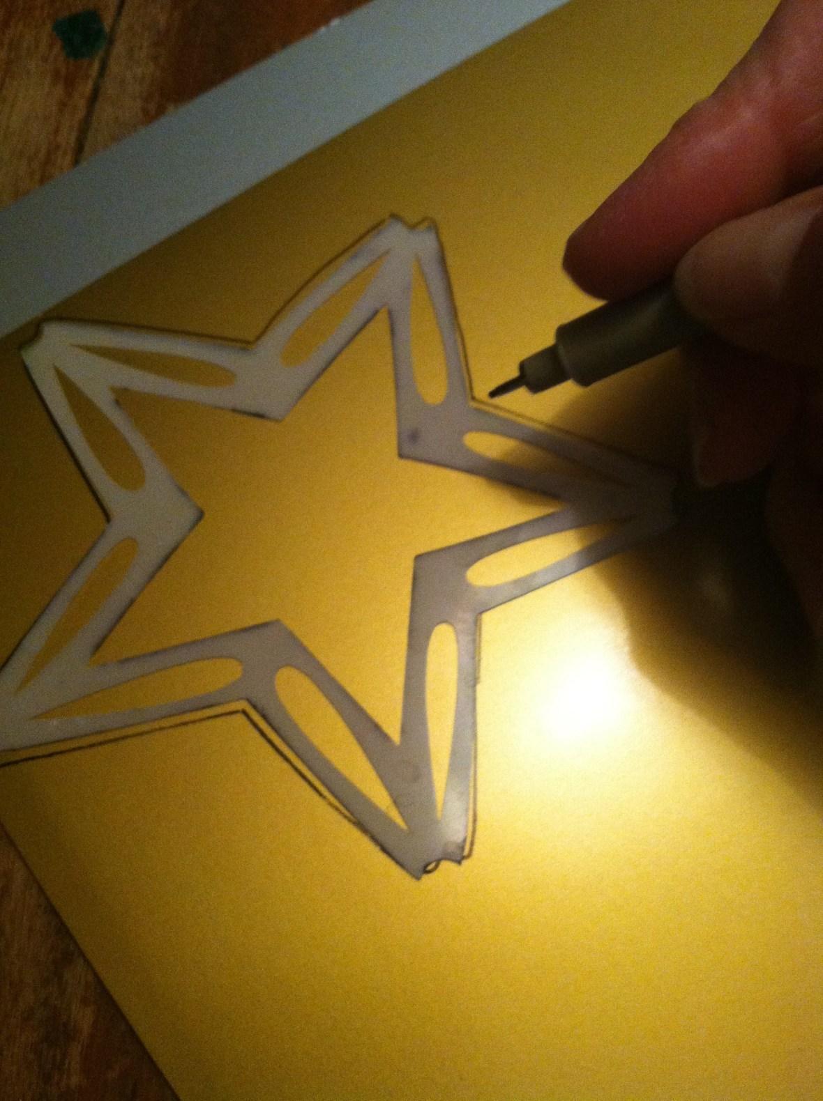 Step 1 tracing stars