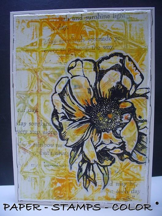 TCW geelgroen monoprint bloem collage (1)