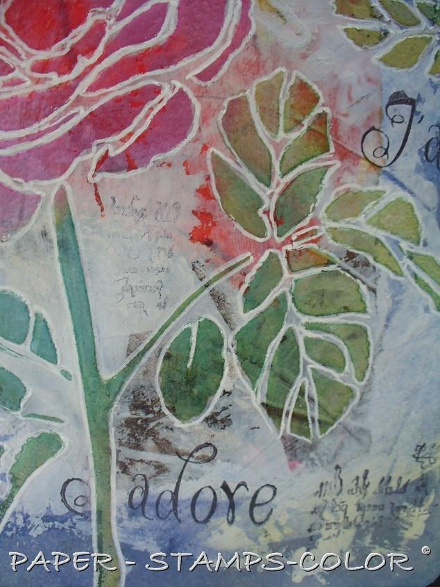 TCW tutorial artjournal roses love (10)