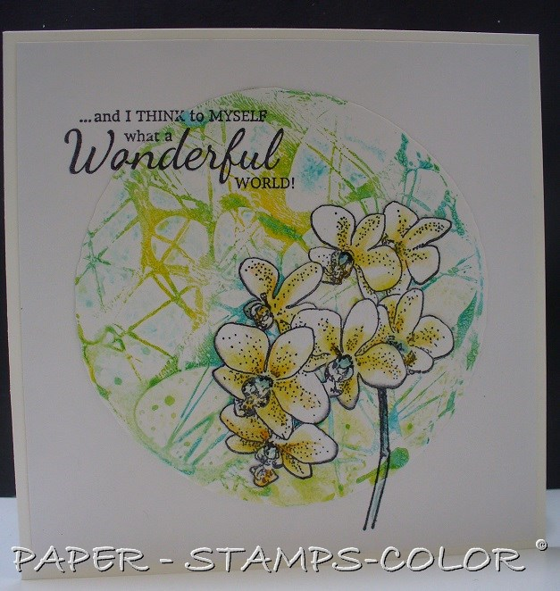 TCW blueyellow gelliplate acrylic paint flower (3)
