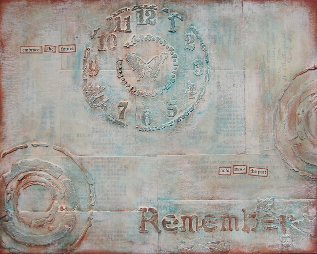 Vintage inspired mixed media artwork