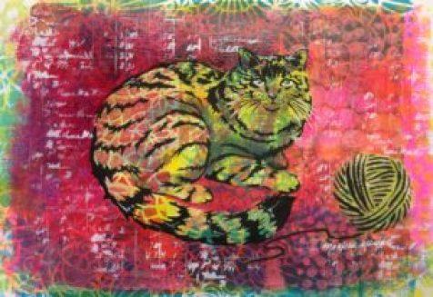 Final artwork :neon cat