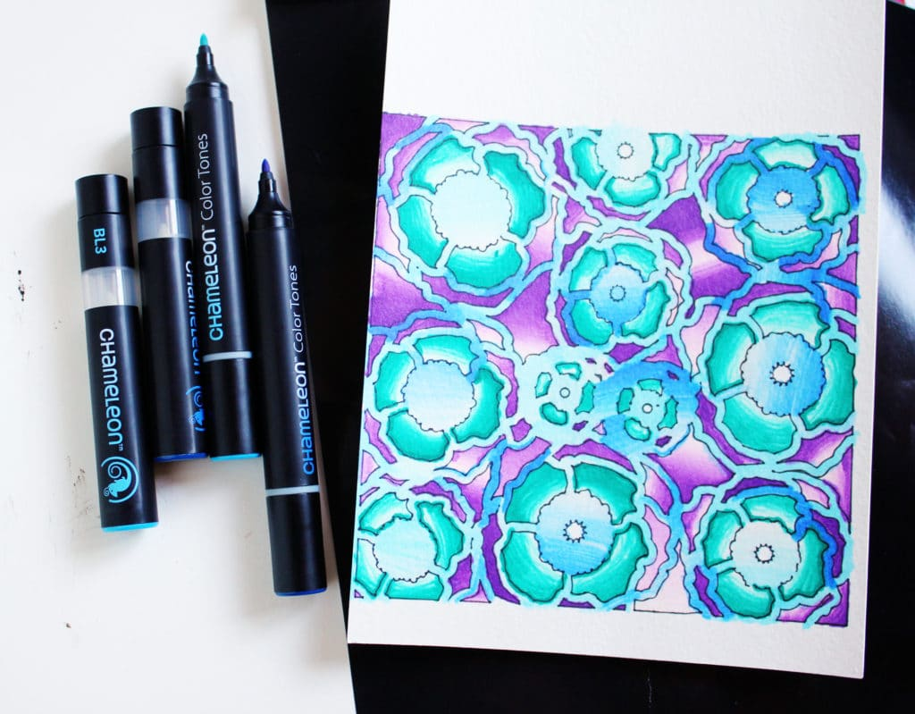 TCW stencil and Chameleon pens