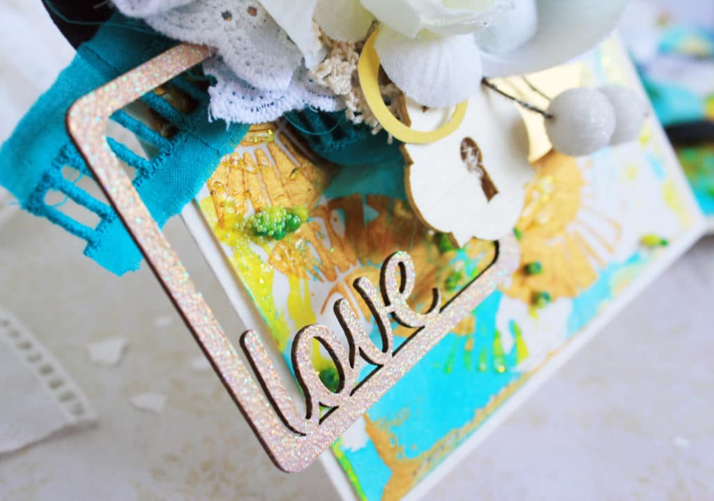 chipboard love with embossing