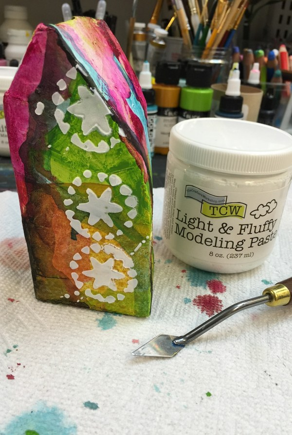 Light and Fluffy Modeling Paste Layer