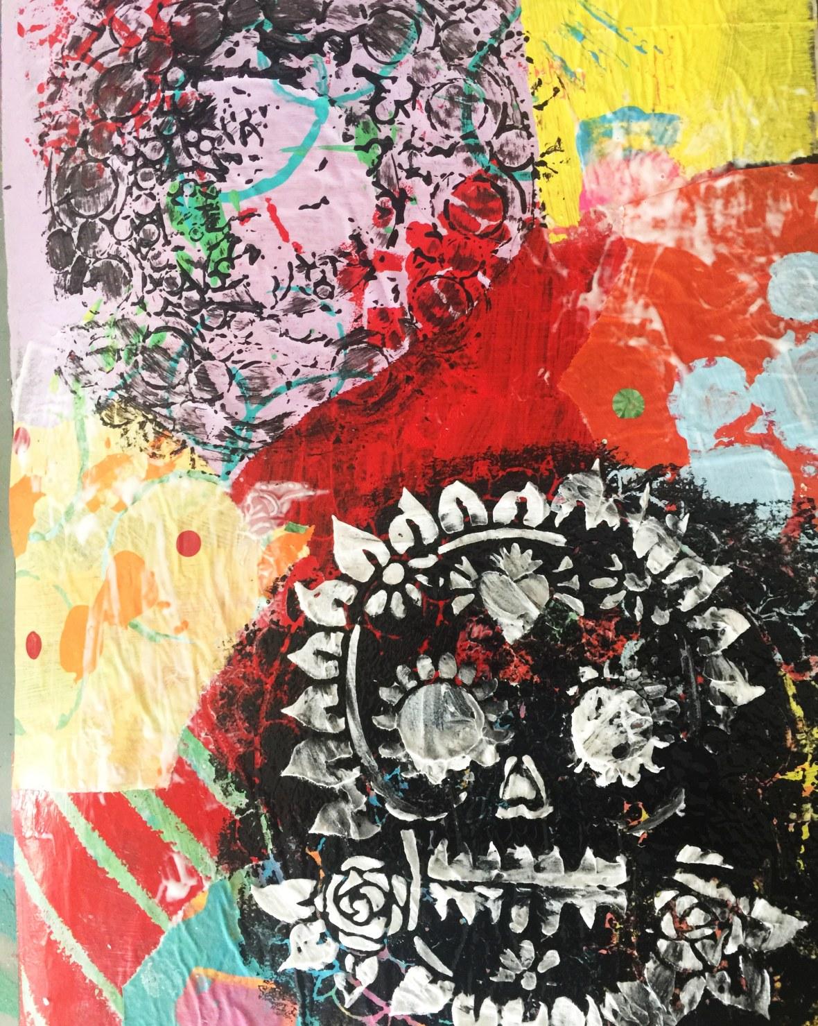 art journal skull