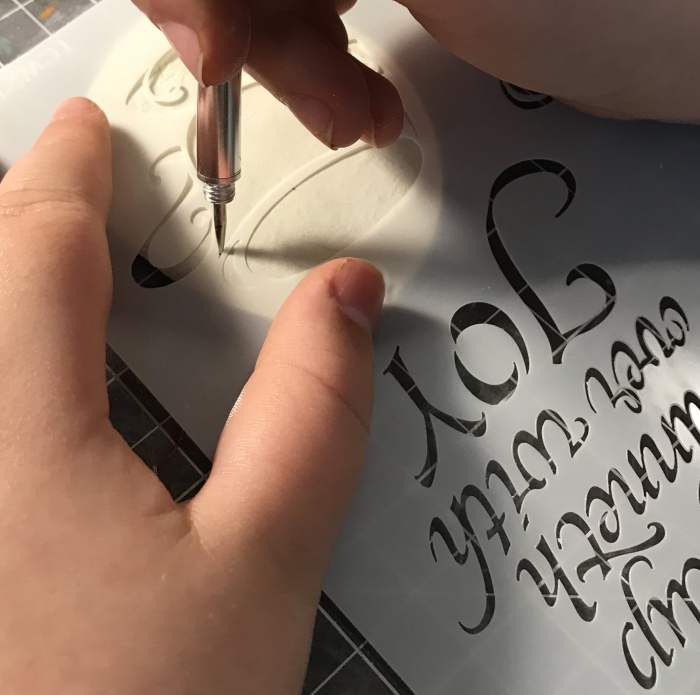 start to trace your stencil