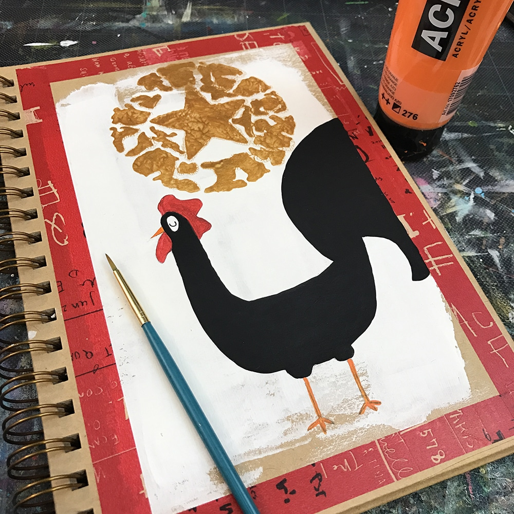 Orange Details on my Rooster