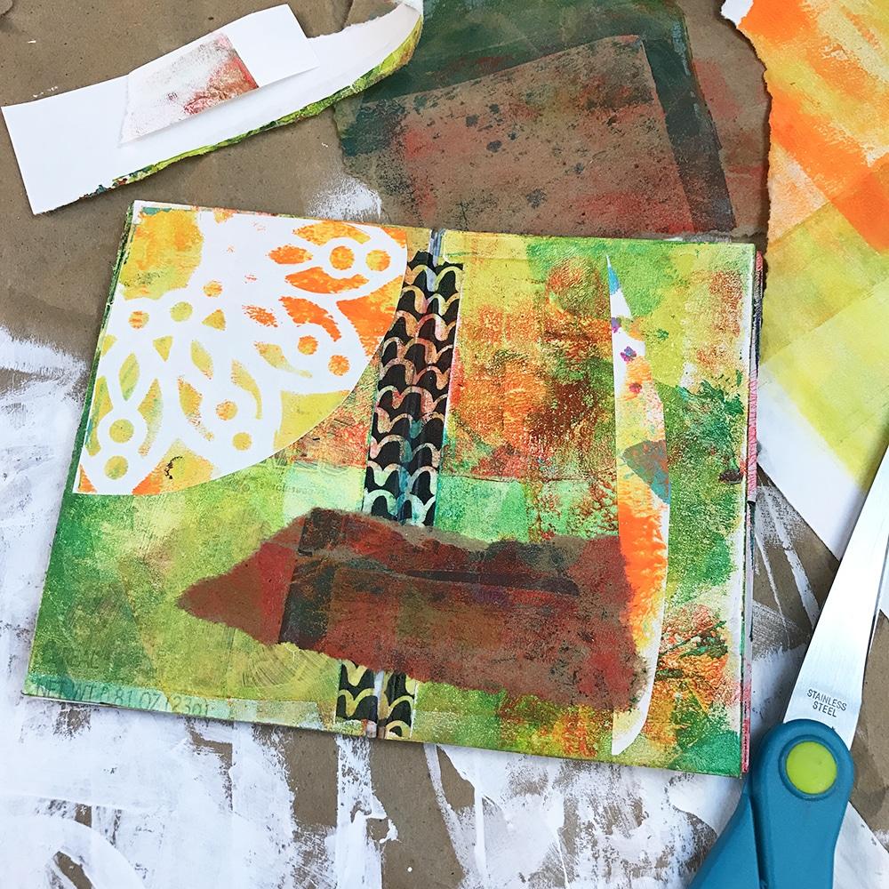 Green and Orange Sample Spread