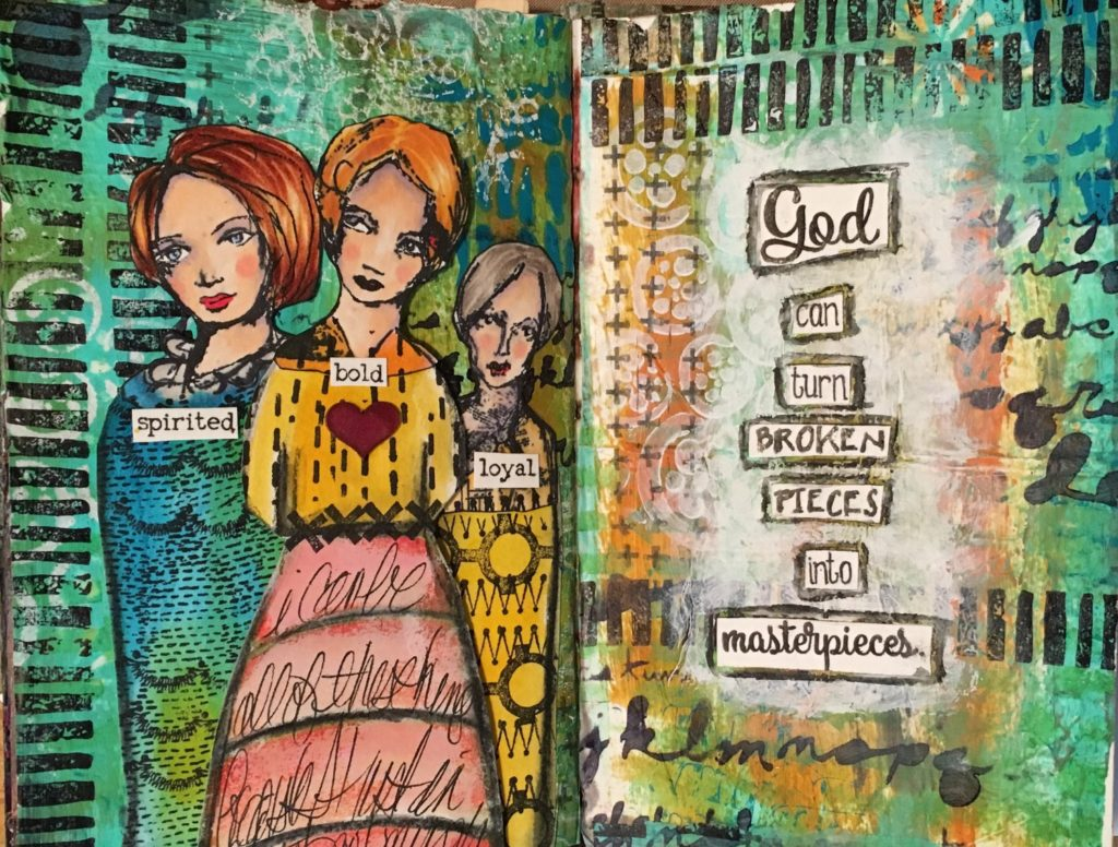 Kim Schofield, Deli Background, Art Journal
