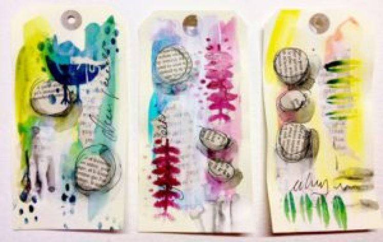 Mixed Media Tags created with TCW689s DUTCH SPRING