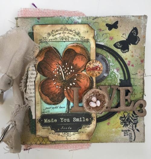 Kim Schofield, TCW, Canvas Corp, Mini Album, Cover