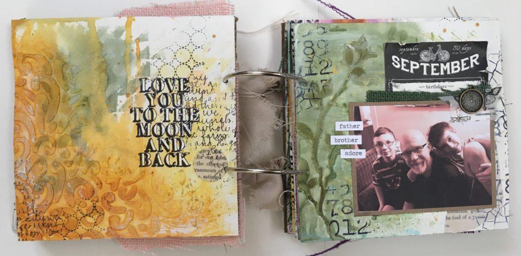 Kim Schofield, TCW, Canvas Corp, Mini Album, Page 3