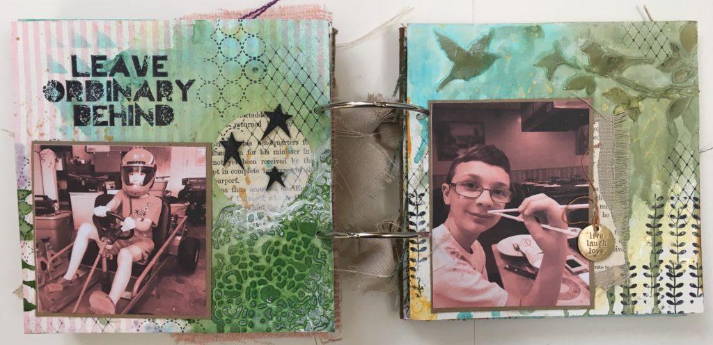 Kim Schofield, TCW, Canvas Corp, Mini Album, Page 7