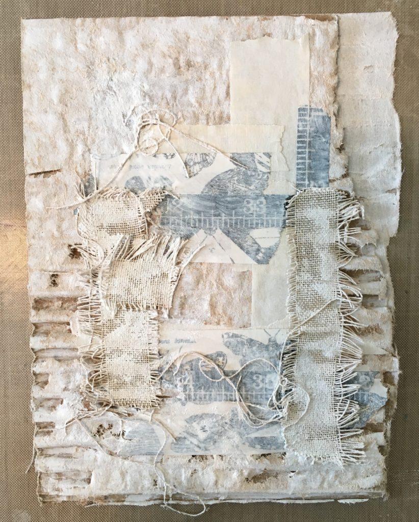 Kim Schofield, Corrugated Wall Hanging, TCW707, Gesso