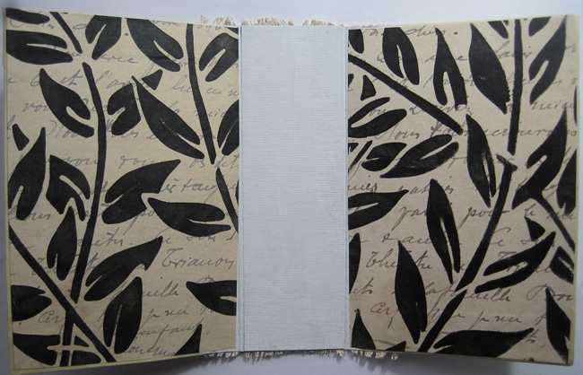 TCW658 stencil and TCW black licorice paint for end papers LEFKO