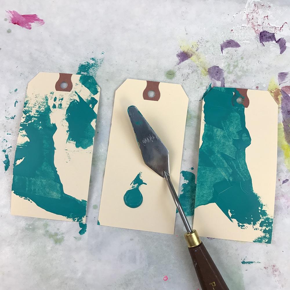 Use a palette knife for variation