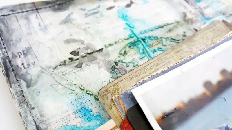 mixed media art journal zoey scarpelli tcwstencil