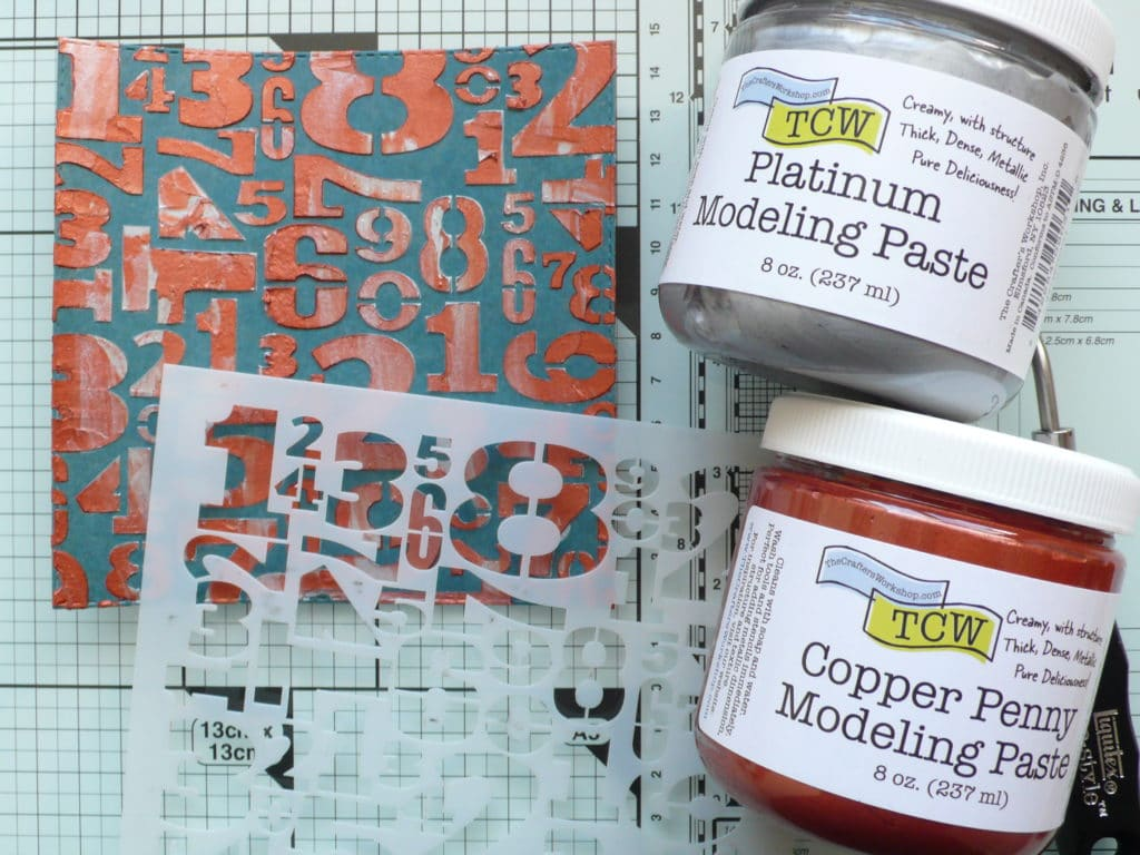 How to make easy masculine birthday cards using metallic modeling paste