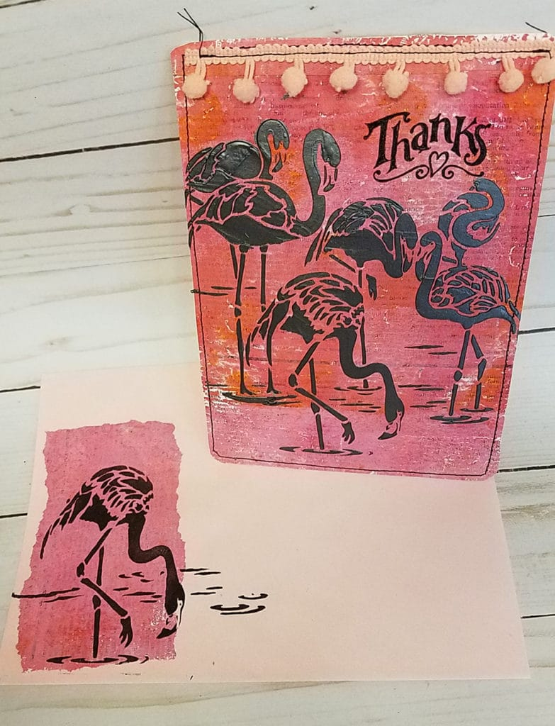 Patty_Eskridge_FANCY_FLAMINGOS_CARD_AND_ENVELOPE_for_The_Crafter's_Workshop
